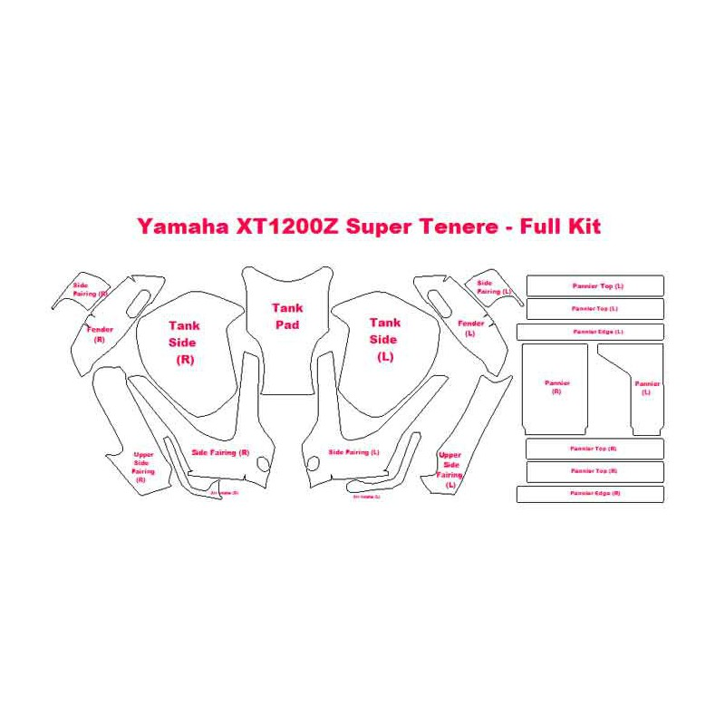 Kits de Protección para la moto Yamaha XT1200Z Super Tènèrè