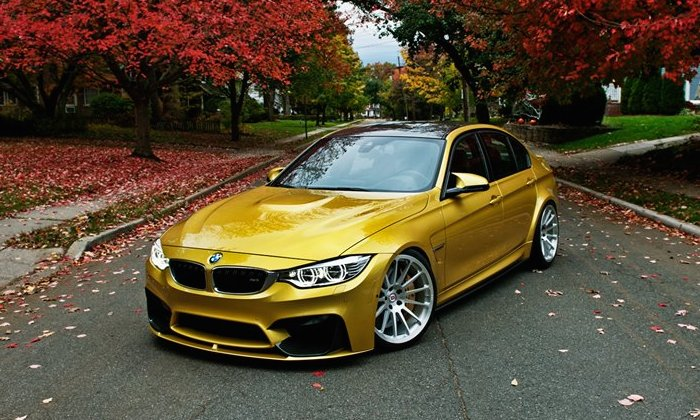 Bentley Fall Wallpaper Golden Bmw M3 On Hre Wheels