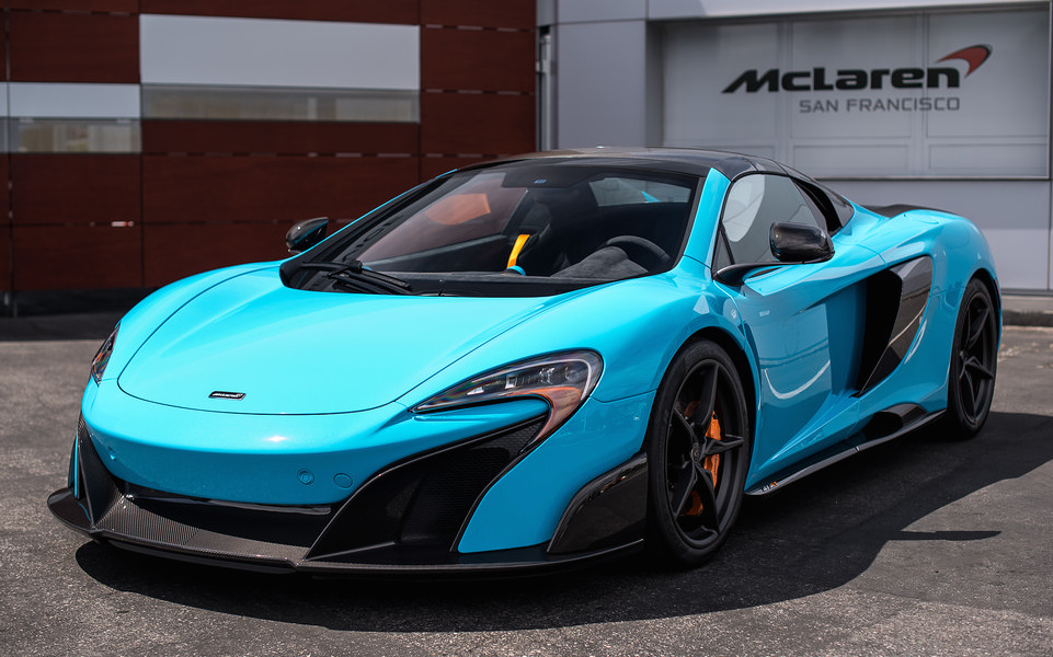 Candy O The Cars Wallpaper Gallery Fistral Blue Mclaren 675lt Spider