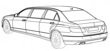 Mercedes Benz E-Class stretch limo sketches