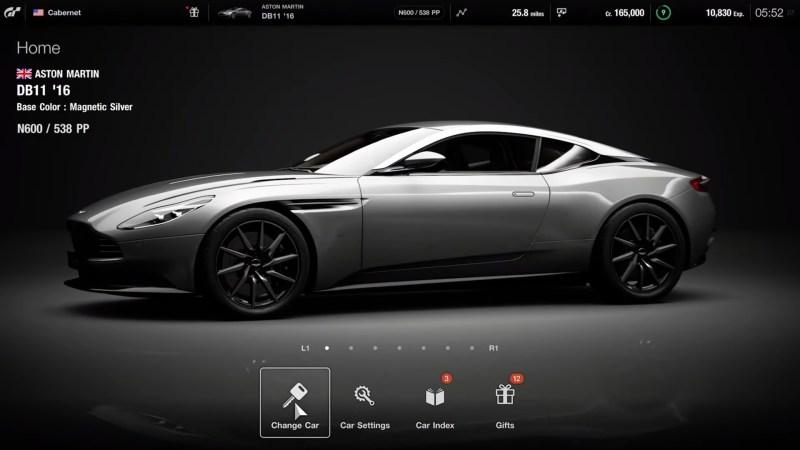 Gran Turismo 7 home menu