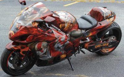 God of War on Suzuki Hayabusa by Uptown Grafx Custom Paint_2