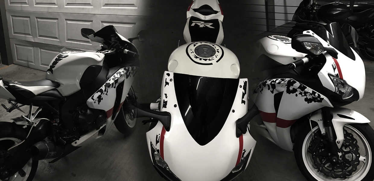 Wide Wheel Stripes-Motorcycle Graphics//Decals