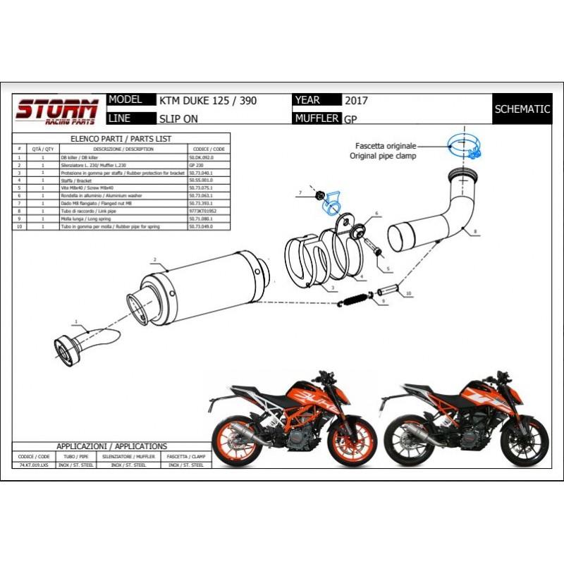 ESCAPE STORM KTM 125 DUKE/ 390 DUKE/ RC 125/ RC 390 17-