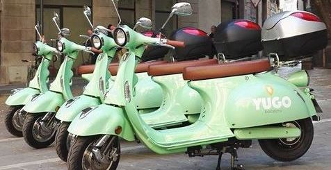 motosharing motos de Yego aparcadas