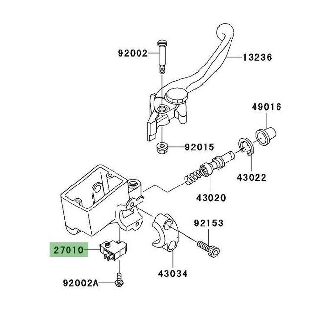 Contacteur de frein avant Kawasaki Z1000 (2003-2013