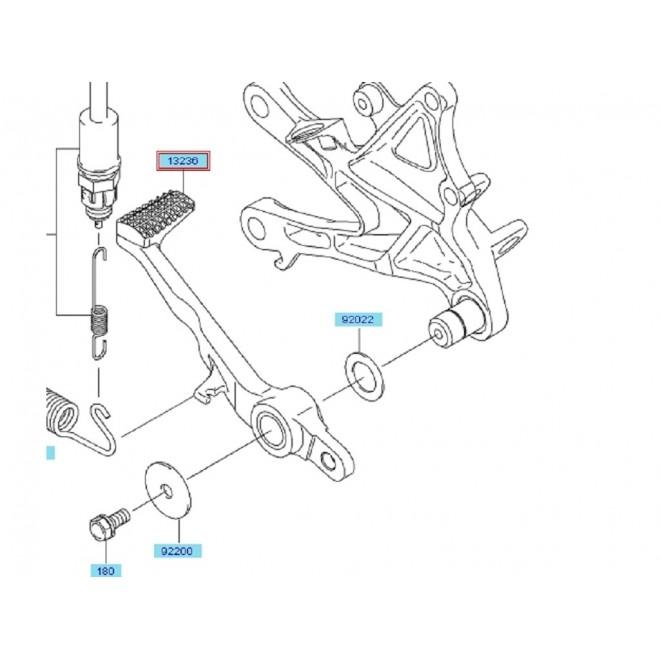 Achat pedale frein arriere zx10r 132360146 KAWASAKI
