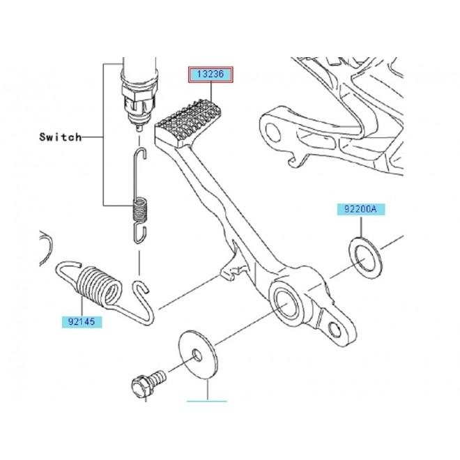 Achat pedale frein arriere zx10r 132360090 KAWASAKI