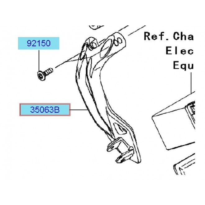 Achat platine repose pied ar g zx10r 350630228 KAWASAKI