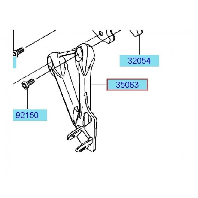 Achat platine repose pied ar g zx6r 350630144w9 KAWASAKI