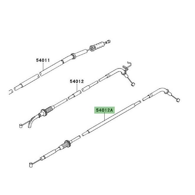 Câble de fermeture des gaz Kawasaki Versys 1000 (2012-2018