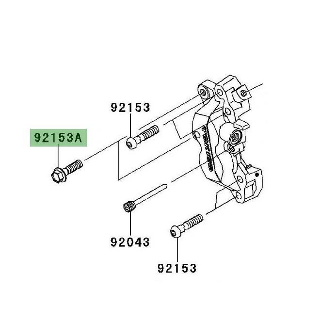 Vis fixation étrier de frein avant Versys 1000 (2012-2018