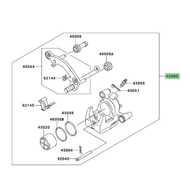 Étrier de frein arrière Kawasaki Z1000SX (2011 et