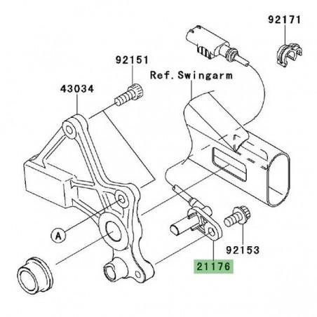 Câble ABS roue arrière Kawasaki Er-6f ABS (2006-2011
