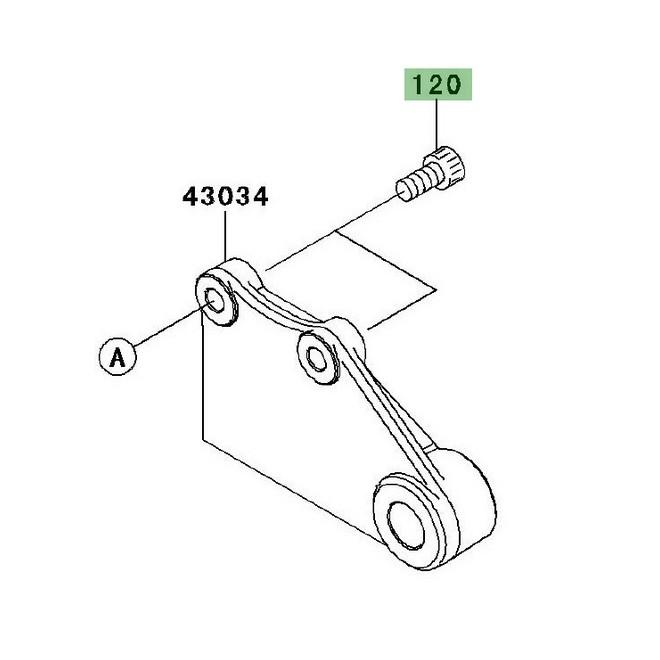 Vis fixation disque de frein arrière Ninja 250R (2008-2012
