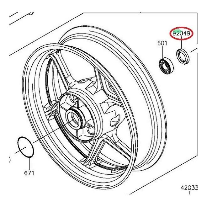 Achat joint spi de roue arriere droit 920491056 KAWASAKI