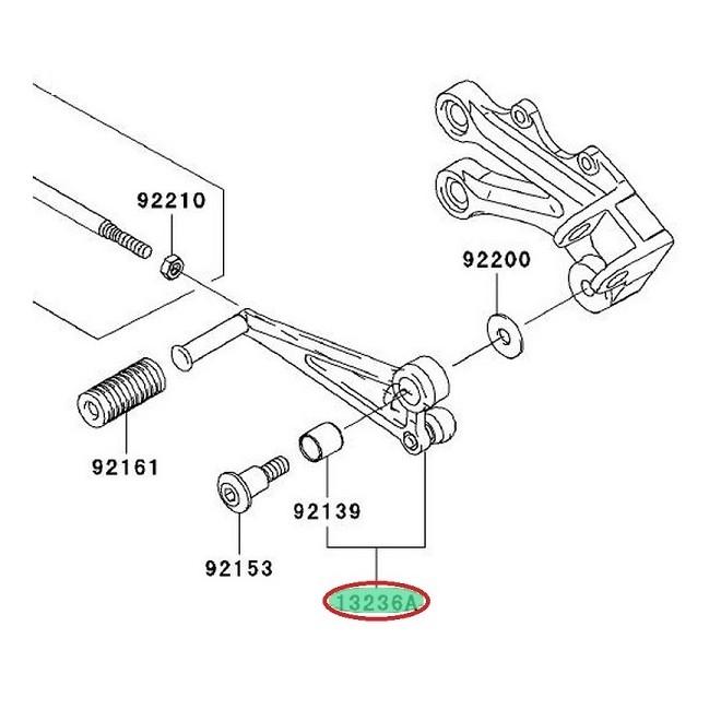 Achat levercomp,change pe KAWASAKI MOTOSHOP 35