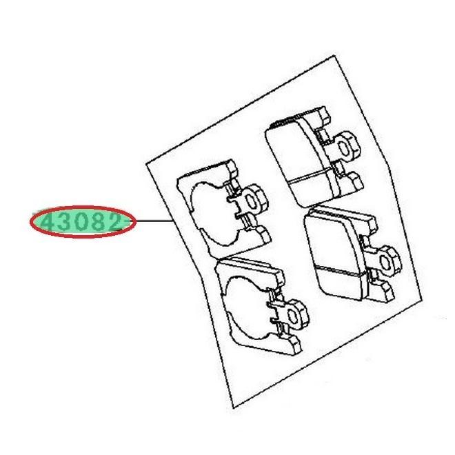 Achat plaquettes frein avant zx10r 430820031 KAWASAKI