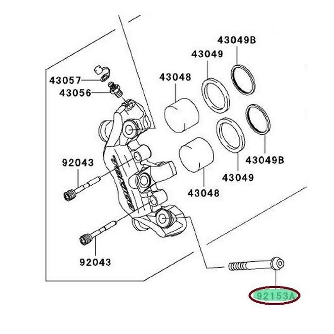 Achat bolt,socket,10x60 KAWASAKI MOTOSHOP 35