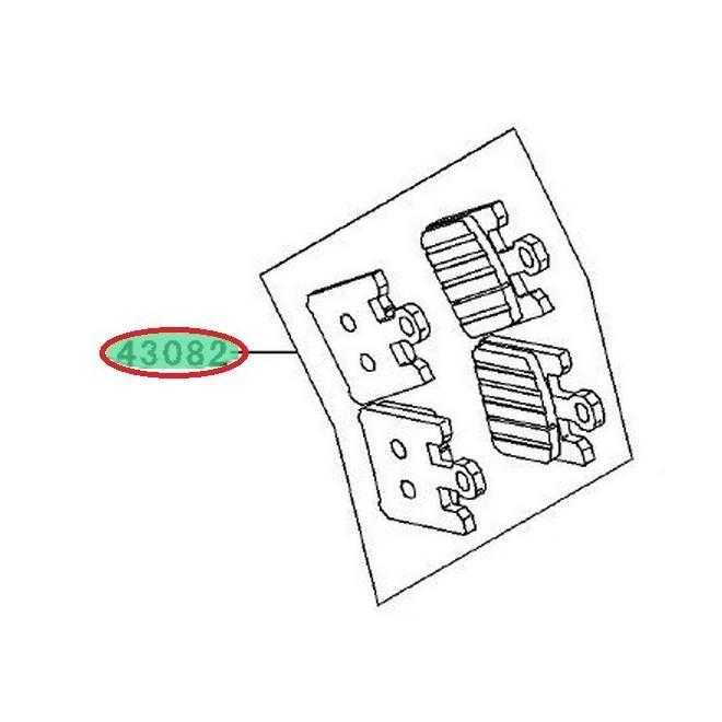 Achat plaquettes frein avant zx10r 430820058 KAWASAKI