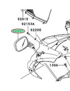 Achat retroviseur gauche zx10r 560010058 KAWASAKI MOTOSHOP 35