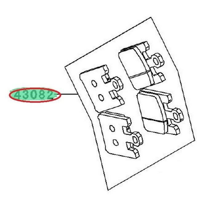 Achat plaquettes frein avant zx6r 636 430820037 KAWASAKI