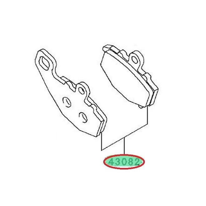 Achat plaquettes frein arriere zx6r 430820068 KAWASAKI
