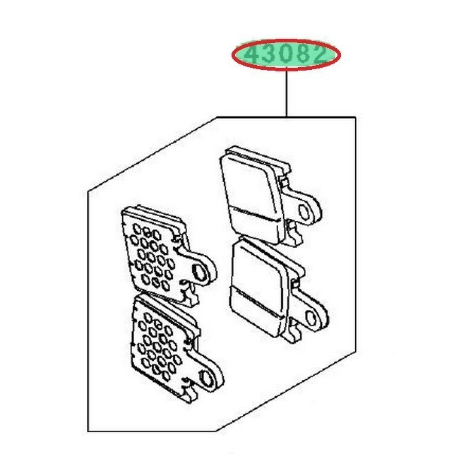 Achat plaquettes frein avant zx6r 430820104 KAWASAKI