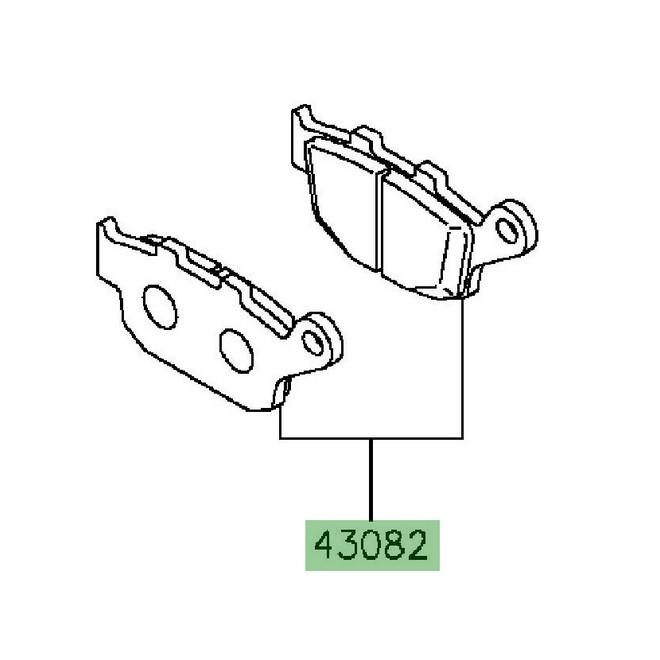 Plaquettes de frein arrière Kawasaki Z800 (2013-2016
