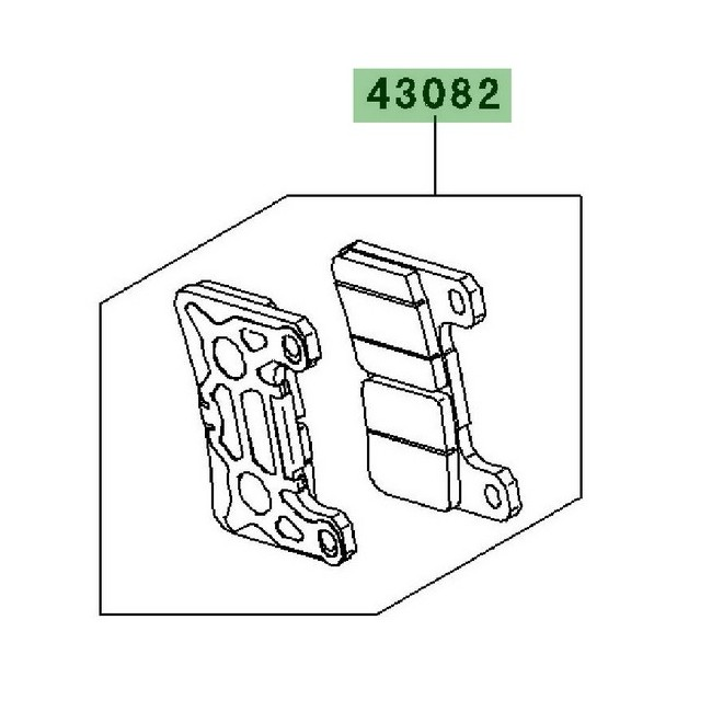 Achat plaquettes de frein avant kawasaki z1000sx 20112013