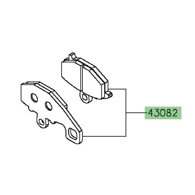 Achat plaquettes de frein arriere kawasaki z1000sx
