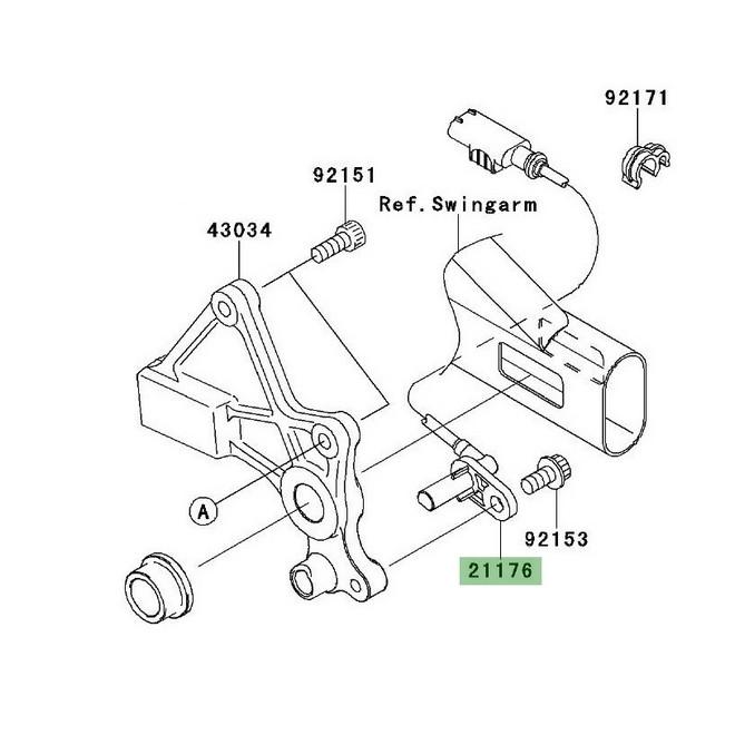 Câble ABS roue arrière Kawasaki Er-6n ABS (2006-2008