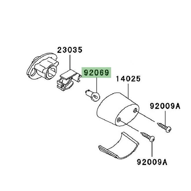 Ampoule éclairage de plaque Kawasaki Z750 (2004-2006