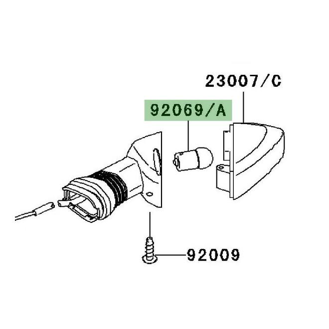 Ampoule clignotants d'origine Kawasaki Z750 (2007-2012