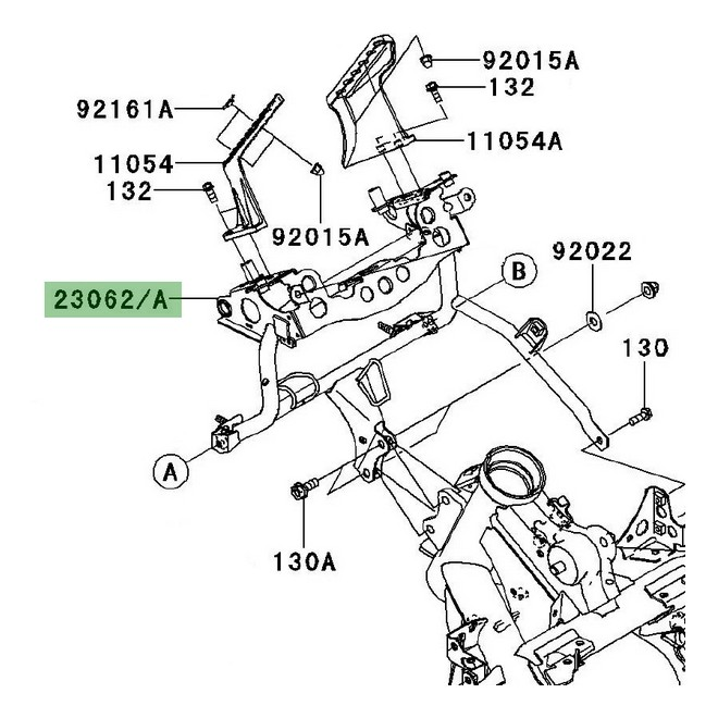 Support tête de fourche Kawasaki Versys 650 (2007-2009
