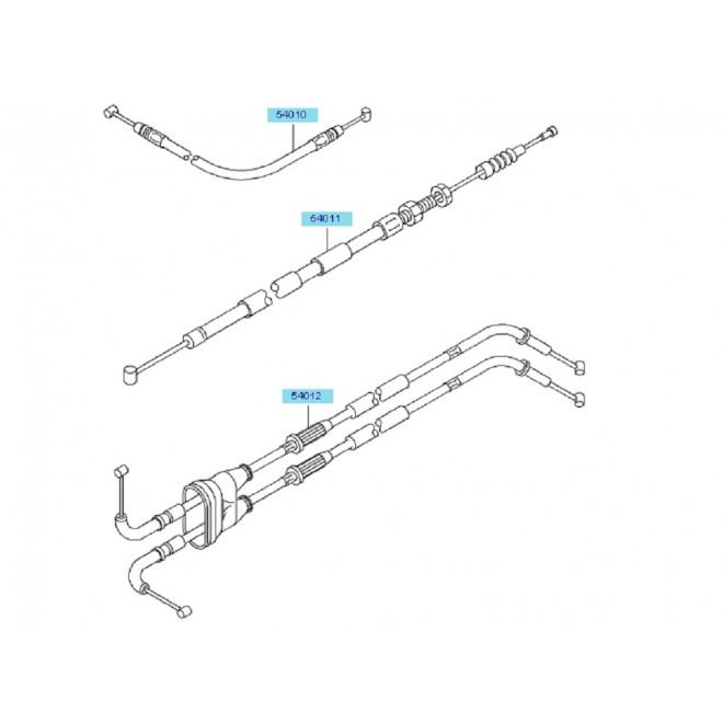 Achat cable embrayage zx6r 2005 540110042 KAWASAKI MOTOSHOP 35