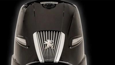 Grille de face avant Peugeot Django 125 noir