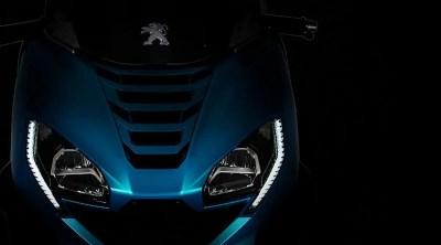 Phare avant Peugeot Métropolis 400 Bleu turquoise