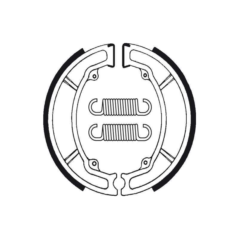 (BA034) YAMAHA YZ J, K, L 250 AÑO 82-84 TRASERAS BENDIX