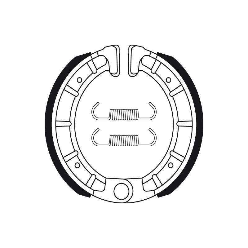 (BA206) DERBI VARIANT SPORT-R 50 AÑO 01- TRASERAS BENDIX