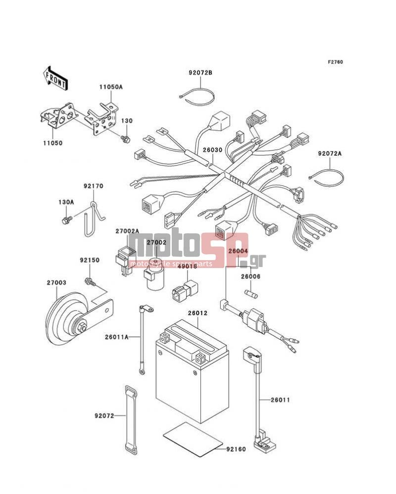 hight resolution of kawasaki super sherpa 2002 electricalchassis electrical equipment