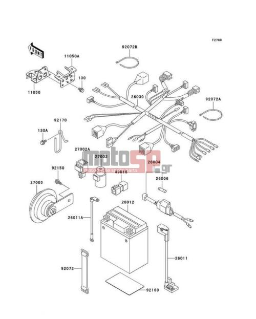 small resolution of kawasaki super sherpa 2002 electricalchassis electrical equipment