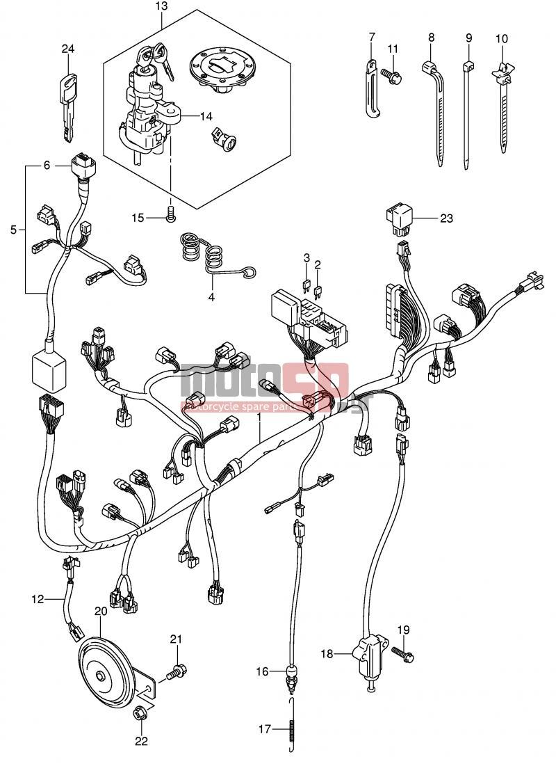 Suzuki V Strom 1000 2004 Wiring Diagram. Suzuki. Auto