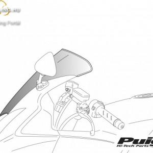 Standard plexi,Puig Yamaha TDM 900 (2002-2013) termék