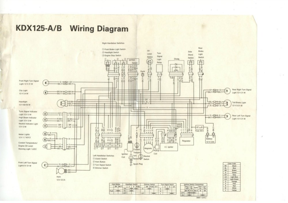 medium resolution of kx 125 wiring diagram 1984 kawasaki kx 125 u2022 edmiracle co kawasaki klx 125 wiring diagram kawasaki kdx 125