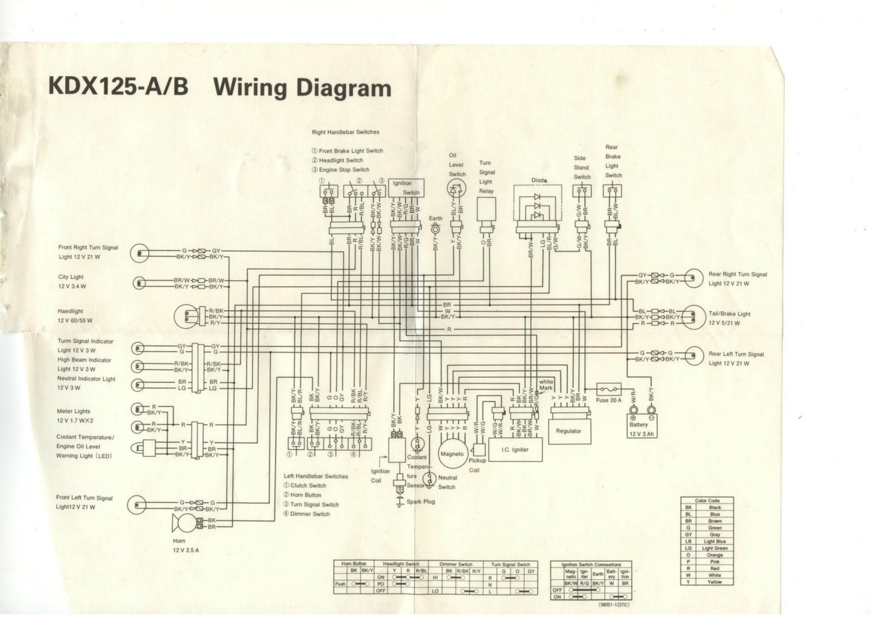 hight resolution of kx 125 wiring diagram 1984 kawasaki kx 125 u2022 edmiracle co kawasaki klx 125 wiring diagram kawasaki kdx 125