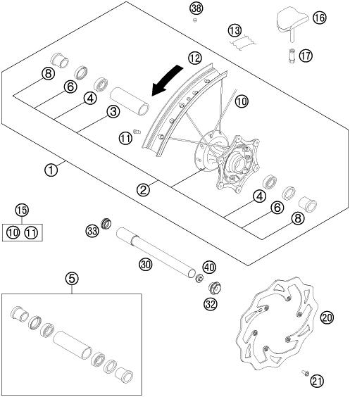 2013 HUSQVARNA / HUSABERG FE 450 (EU) FRONT WHEEL Parts