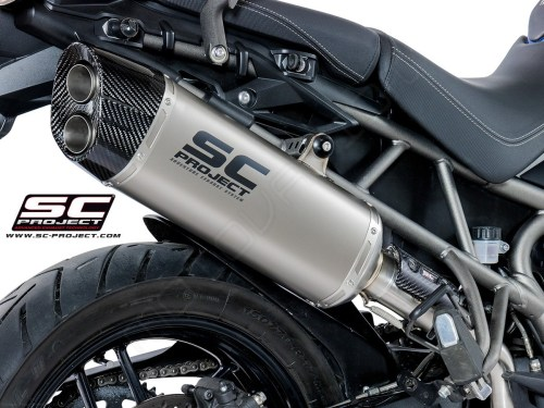 small resolution of  adventure exhaust by sc project triumph tiger 800 xc 2018