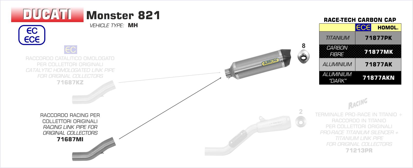 Race-Tech Exhaust by Arrow (71877)
