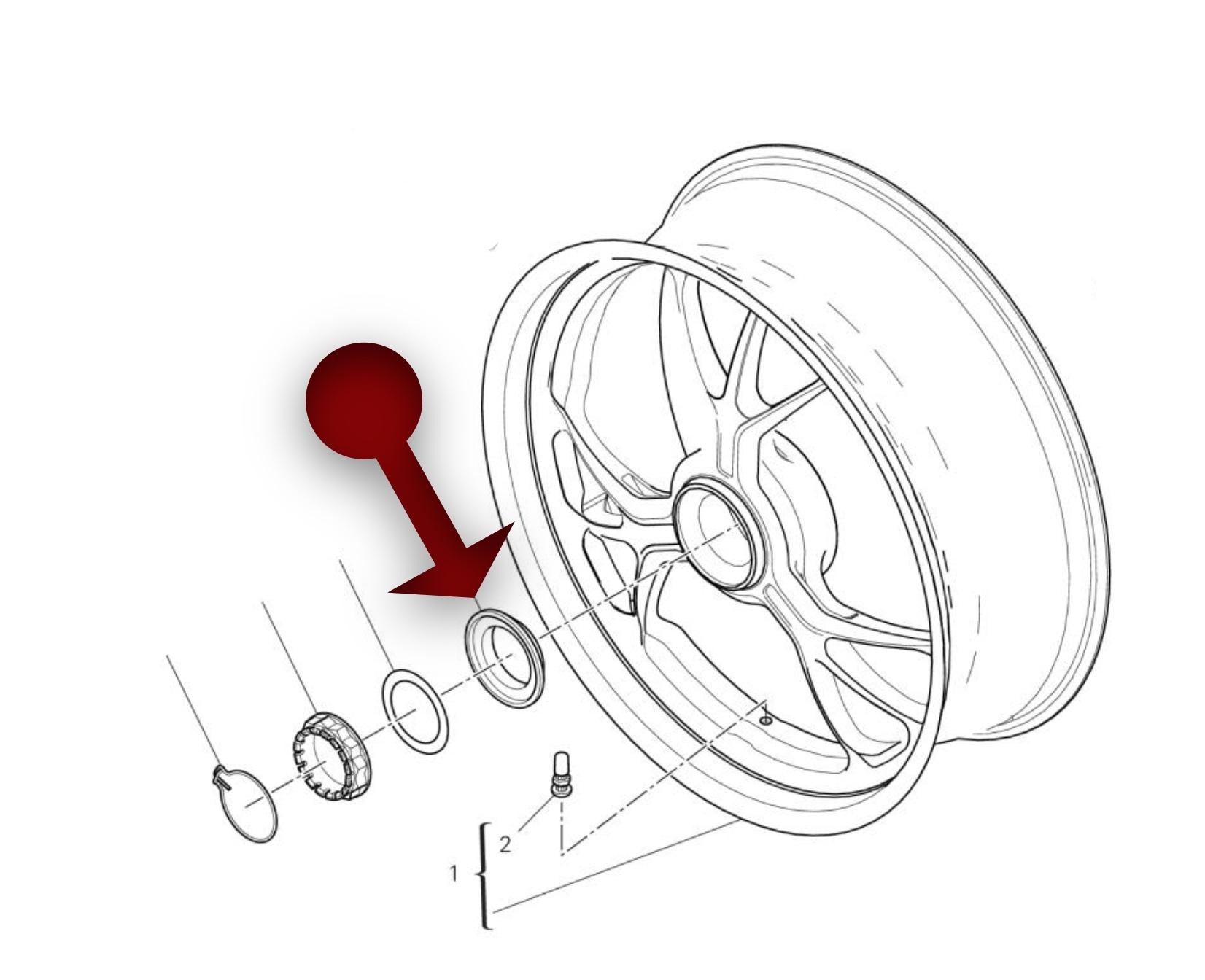 Rear Wheel Axle Nut Cone by AEM Factory (DU009-CONE)
